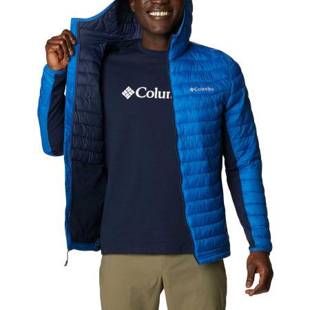 Men's hybrid jacket - Columbia POWDER PASS HOODED JACKET - 5