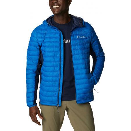 Men's hybrid jacket - Columbia POWDER PASS HOODED JACKET - 2