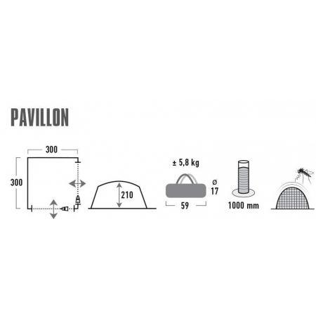 Párty stan - High Peak PAVILLON 3x3M - 2