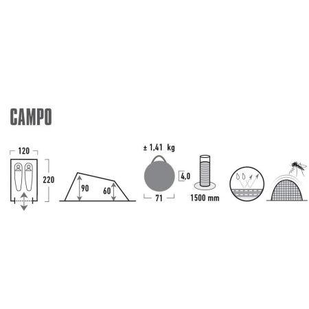 Samostaviteľný outdoorový stan - High Peak CAMPO - 7