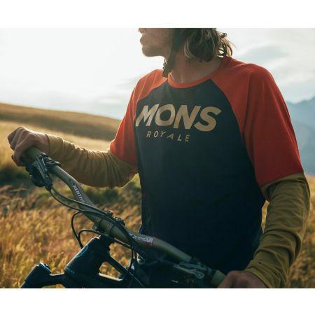 Pánský dres na kolo - MONS ROYALE TARN FREERIDE LS WIND - 4
