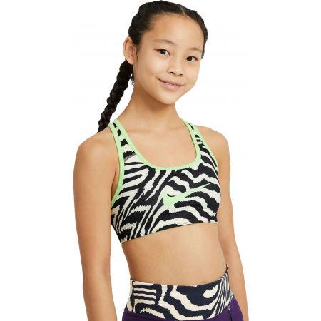 Nike SWOOSH AOP REV BRA G - Dívčí oboustranná podprsenka