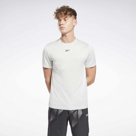 Мъжка тениска - Reebok WORKOUT READY MELANGE SS TECH TEE - 2