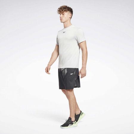 Мъжка тениска - Reebok WORKOUT READY MELANGE SS TECH TEE - 3