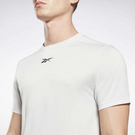 Мъжка тениска - Reebok WORKOUT READY MELANGE SS TECH TEE - 5
