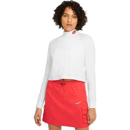 Nike NSW TEE LS MOCK LOVE W - Dámské triko s dlouhým rukávem
