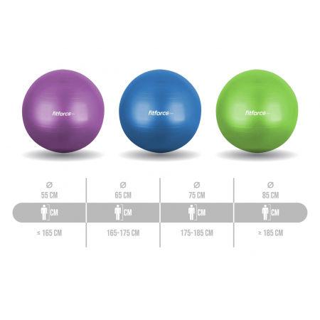 Gymnastický míč / Gymball - Fitforce GYM ANTI BURST 55 - 2