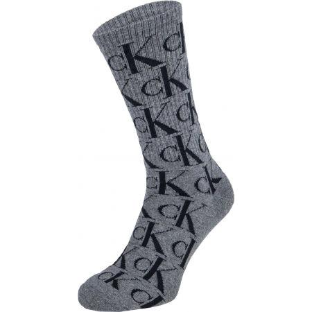 Pánské ponožky - Calvin Klein MENS 2PK CREW CK JEANS  MONOGRAM JOHN - 2