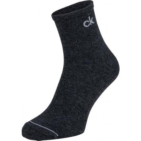 Pánské ponožky - Calvin Klein MEN QUARTER 3P NICK - 4