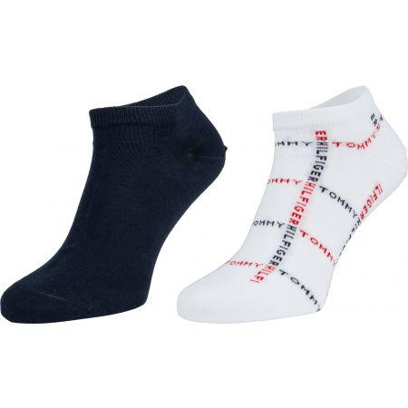 Tommy Hilfiger MEN SNEAKER 2P GRID - Pánske ponožky