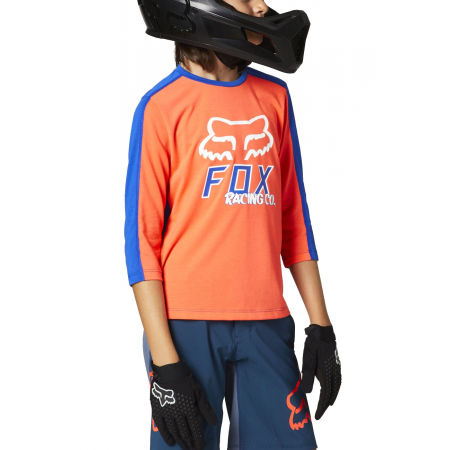 Fox RANGER DR 3/4 YTH - Kids' cycling jersey with 3/4 sleeves