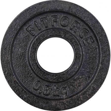 Disc greutăți - Fitforce DISC GREUTATE 0,5KG NEGRU 30MM