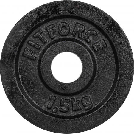 Fitforce WEIGHT DISC PLATE 1.5KG BLACK METAL 30MM - Weight Disc Plate