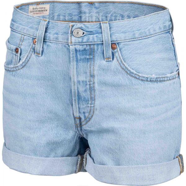 Levi's 501 ROLLED SHORT LUXOR EROSION  27 - Dámské džínové šortky