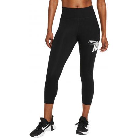 Nike ONE CROPPED GRAPHIC - Dámske športové legíny