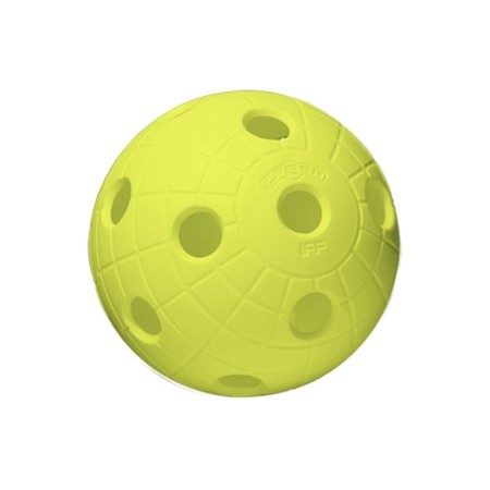Floorball labda - Unihoc BALL CRATER NEON YELLOW