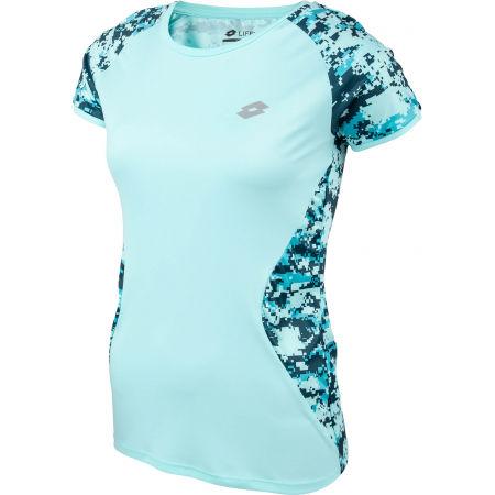 Дамска спортна тениска - Lotto SPEEDRUN W IV TEE PRT PL - 3