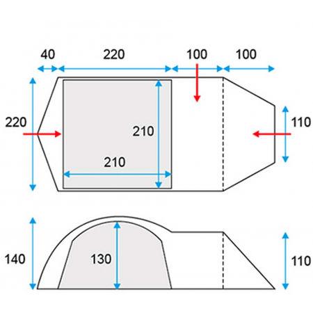 Палатка - Loap HALSA 3+1 - 4