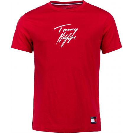 Tommy Hilfiger CN SS TEE LOGO - Pánské tričko