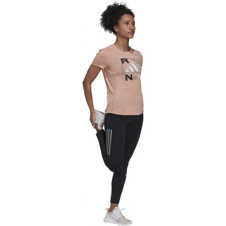 Dámské sportovní triko - adidas RUN LOGO W 1 - 4