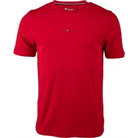 Tommy Hilfiger STRIPE LOGO TEE - Pánské tričko
