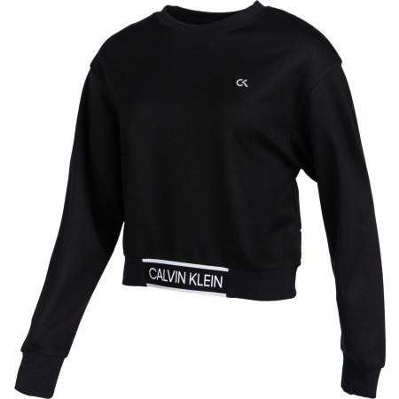 Дамски суитшърт - Calvin Klein CROPPED PULLOVER - 2