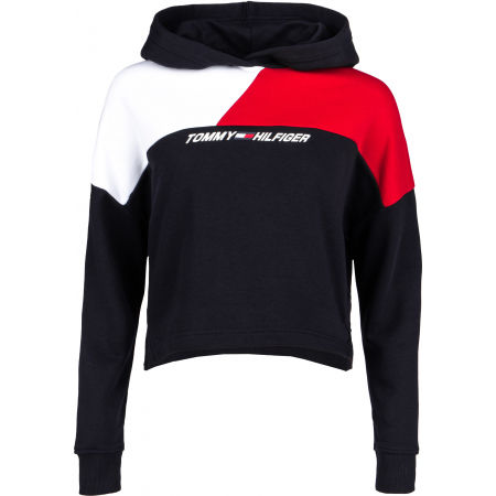 Tommy Hilfiger RELAXED COLOUR BLOCK HOODIE LS - Dámská mikina