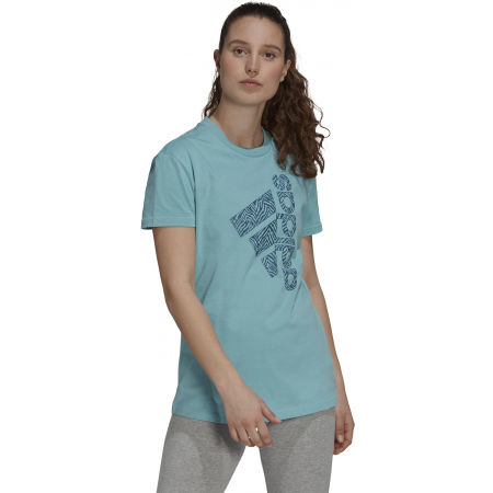 Дамска тениска - adidas VRTCL ZBR G T - 3