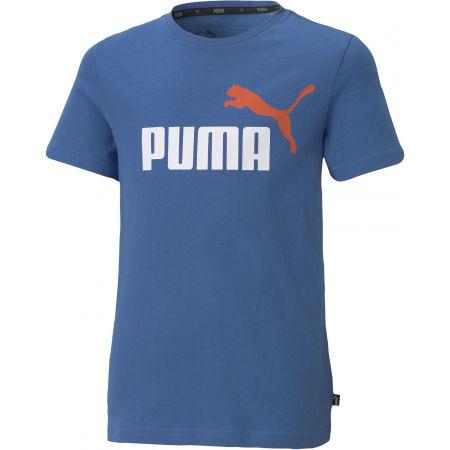 Puma ESS + 2 COL LOGO TEE - Tricou de băieți