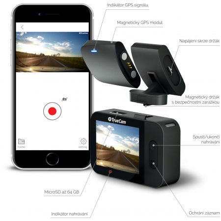 Autokamera - TrueCam M5 GPS WIFI - 5