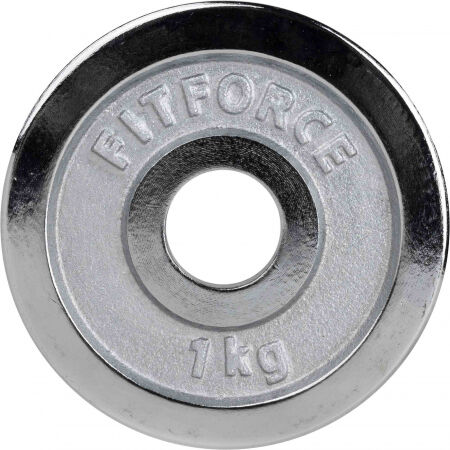 WEIGHT DISC PLATE 1KG CHROME 30MM - Weight Disc Plate - Fitforce WEIGHT DISC PLATE 1KG CHROME 30MM