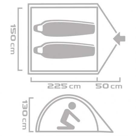 Outdoorový stan - Crossroad KOBUK 2 - 9