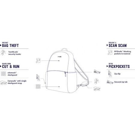 Women's safety backpack - Pacsafe STYLESAFE BACKPACK - 3