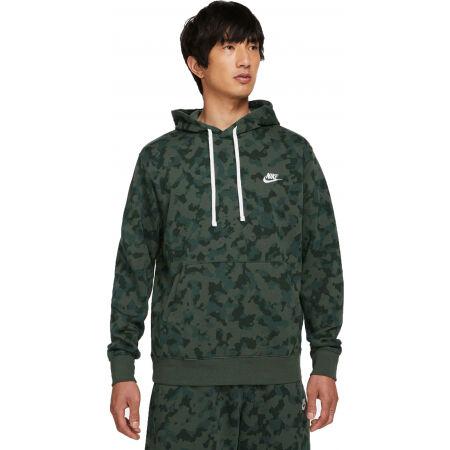 Nike NSW CLUB FT HOODIE CAMO M - Férfi pulóver