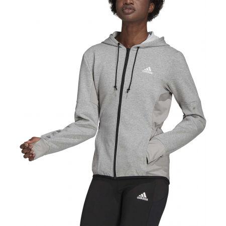 Дамски суитшърт - adidas HOODED TRACK TOP - 2