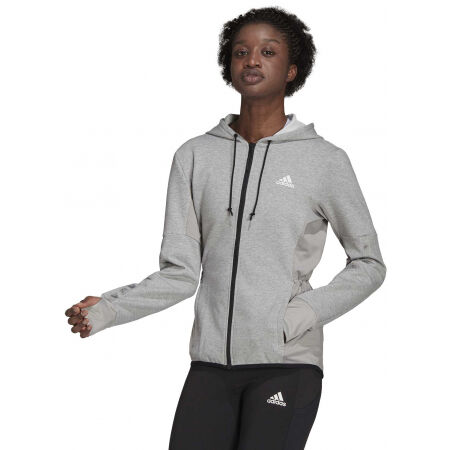 Дамски суитшърт - adidas HOODED TRACK TOP - 3