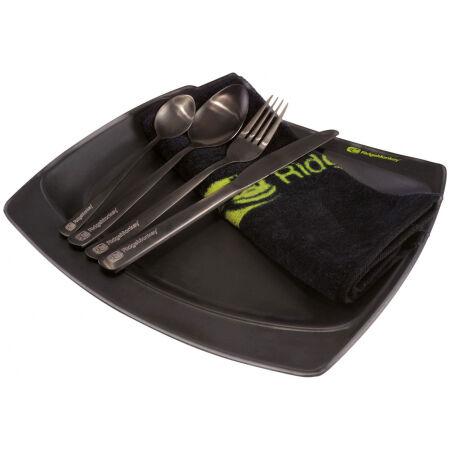 RIDGEMONKEY SQ DLX LARGE PLATE SET - Turystyczny zestaw obiadowy