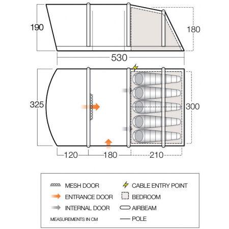 Nafukovací rodinný stan - Vango ALTON AIR 500 - 5