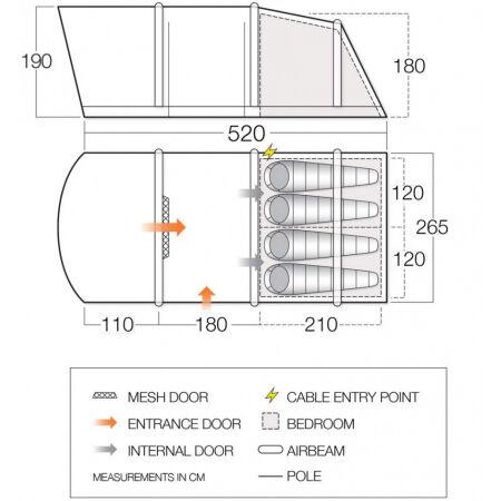 Nafukovací rodinný stan - Vango ALTON AIR 400 - 2