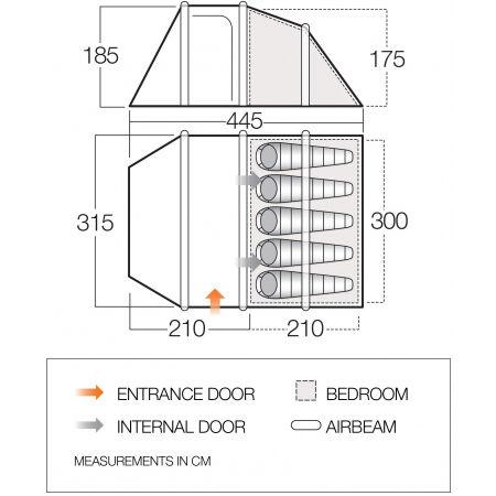 Nafukovací rodinný stan - Vango SKYE II AIR 500 - 2