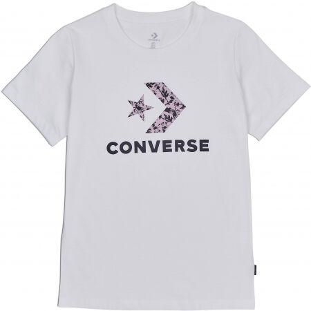 Converse FLORAL STAR CHEVRON GRAPPHIC TEE - Дамска тениска