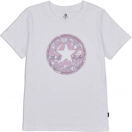 Converse FALL FLORAL PATCH GRAPPHIC TEE - Dámske tričko