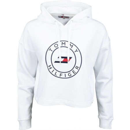 Tommy Hilfiger RELAXED ROUND GRAPHIC HOODIE LS - Dámská mikina