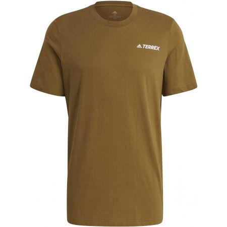 adidas TX MOUN GFX TEE - Pánské outdoorové tričko
