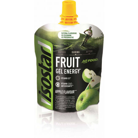 Energetický gel s kousky ovoce - Isostar ENERGY GEL JABLKO 90G