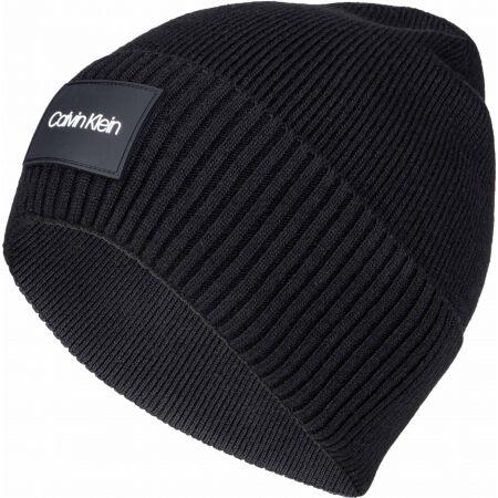 Calvin Klein RTW PATCH RIB BEANIE - Мъжка зимна шапка