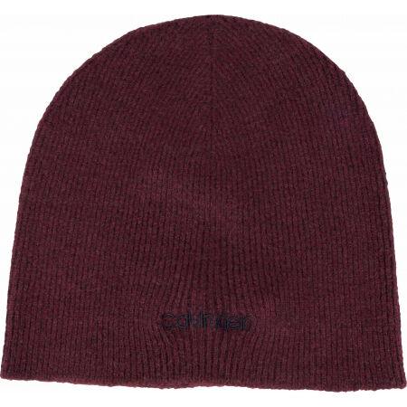 Pánská zimní čepice - Calvin Klein BASIC WOOL NO FOLD BEANIE - 3