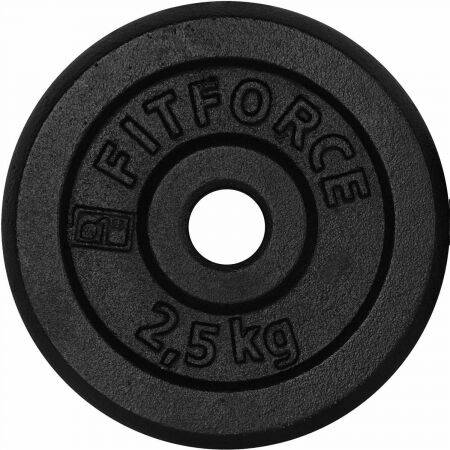 Fitforce WEIGHT DISC PLATE 2,5KG BLACK METAL - Weight Disc Plate