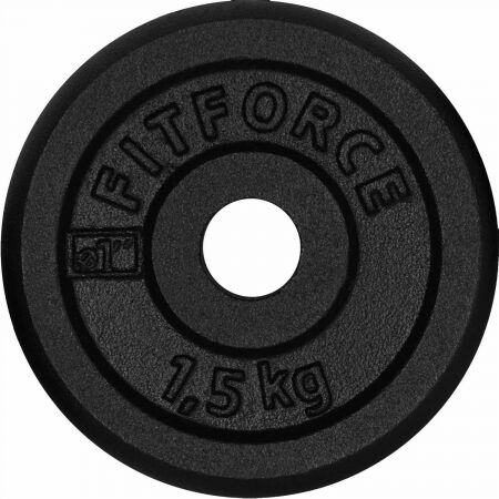 WEIGHT DISC PLATE 1,5KG BLACK METAL - Weight Disc Plate - Fitforce WEIGHT DISC PLATE 1,5KG BLACK METAL