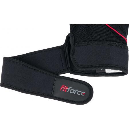 Kožené fitness rukavice - Fitforce FERAL - 3